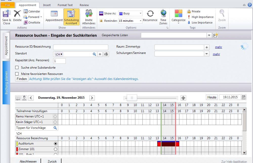 Outlook Plugin Screenshot
